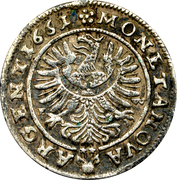 3 Kreuzer - Ludwig IV – reverse