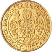 1 Ducat - Georg III, Ludwig IV & Christian – reverse