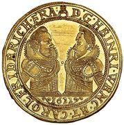 4 Ducats - Johann Christian & Georg Rudolf (Oels) – obverse
