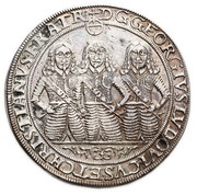 2 Thaler - Georg III, Ludwig IV & Christian -  obverse