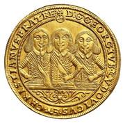 2 Ducat - Georg III, Ludwig IV & Christian – obverse