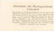 20 Heller (Lilienfeld) -  reverse