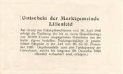 50 Heller (Lilienfeld) -  reverse
