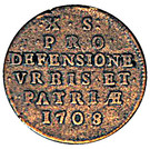 10 Sols (Siege Coinage) – reverse