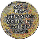 20 Sols (Siege Coinage) – reverse