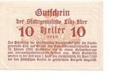 10 Heller (Linz) – reverse