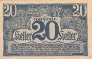 20 Heller (Linz) -  reverse