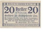 20 Heller (Linz) – obverse