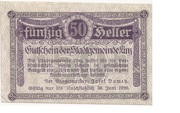 50 Heller (Linz) – obverse