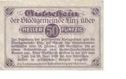 50 Heller (Linz) – reverse
