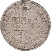 ⅓ Reichsthaler - Simon Heinrich – reverse