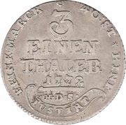 ⅓ Thaler - Simon August – reverse
