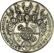 ⅔ Thaler / 1 Gulden - Simon Heinrich Adolf – reverse