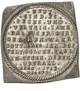 ¼ Thaler - Friedrich Adolf (46th Birthday; Klippe) – reverse