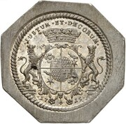 ½ Thaler - Friedrich Adolf (47th Birthday; Klippe) – reverse