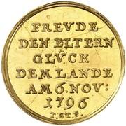 1½ Ducat - Friedrich Wilhelm Leopold (Birth) – reverse