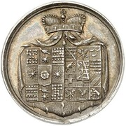 1½ Ducat - Friedrich Wilhelm Leopold (Birth; Silver Pattern) – obverse