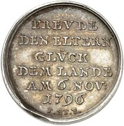 1½ Ducat - Friedrich Wilhelm Leopold (Birth; Silver Pattern) – reverse