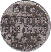 1 Mattier - Friedrich Adolf – reverse