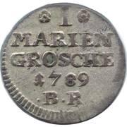 1 Mariengroschen - Friedrich Wilhelm Leopold – reverse