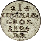 1 Groschen - Paul Alexander Leopold II – reverse