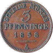 3 Pfenninge - Paul Friedrich Emil Leopold III – reverse