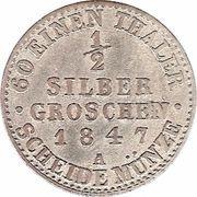 ½ Silber Groschen - Paul Alexander Leopold II – reverse