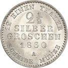 2½ Silbergroschen - Paul Friedrich Emil Leopold III – reverse