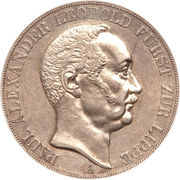 2 Thaler / 3½ Gulden - Paul Alexander Leopold II – obverse