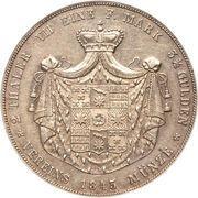 2 Thaler / 3½ Gulden - Paul Alexander Leopold II – reverse