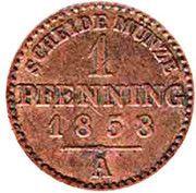 1 Pfenning - Paul Friedrich Emil Leopold III – reverse