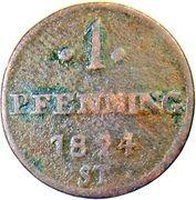 1 Pfenning - Paul Alexander Leopold II – reverse