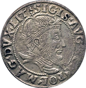 1 Groat - Zygmunt II August (4th portrait) – obverse