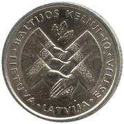 1 Litas (Baltic Way) – reverse