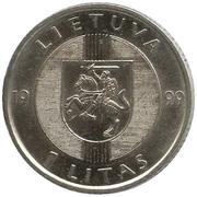 1 Litas (Baltic Way) – obverse