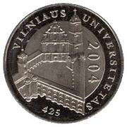 1 Litas (Vilnius University) – reverse