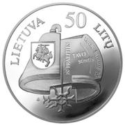 50 Litų (Vincas Kudirka (1858-1899)) -  obverse