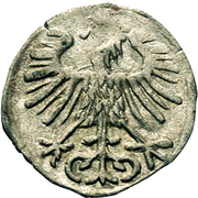Denar - Zygmunt II August (Lithuania) – reverse