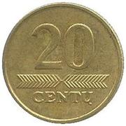 20 Centų -  reverse
