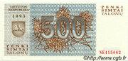 500 talonų – obverse