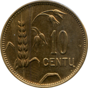 10 Centų – reverse