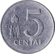5 Centai -  reverse