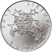 1 Litas (Presidency of the EU Council) -  obverse
