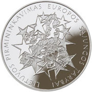 50 Litų (Presidency of the EU Council) -  obverse