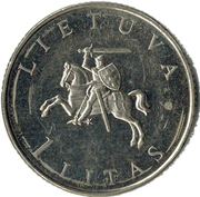 1 Litas (Vilnius European Capital) – obverse