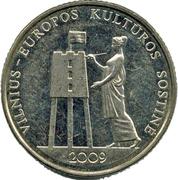 1 Litas (Vilnius European Capital) – reverse