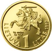 1 Litas (Bank of Lithuania) – obverse