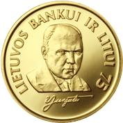 1 Litas (Bank of Lithuania) – reverse