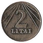 2 Litai – reverse