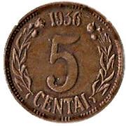 5 Centai – reverse